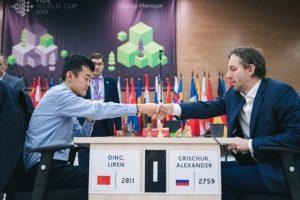 Liren Ding går til semifinalen etter seier mot Grischuk