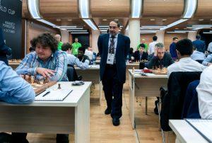 Fra første runde av FIDE World Cup