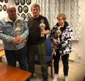 Tre Østfoldmestre: Shemsi Rukovci,, Edgar Karagyozian og Jo Nicolai Kristiansen