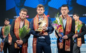 Aronian, Carsen og Liren Ding er tre av fire finalister i Grand Chess Tour