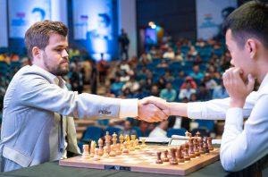 Bare Liren Ding har klart å slå Carlsen i India