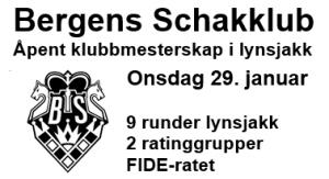 Bergens SK - Åpent klubbmesterskap i lynsjakk