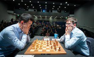 Liren Ding slo Vachier-Lagrave og leder finalen i Grand Chess Tour