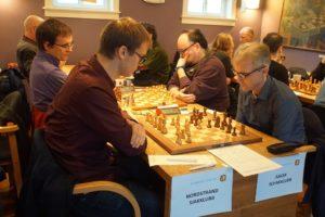 Toppbordene i kampen Nordstrand - Asker