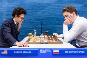 Caruana slår Duda og tar førsteplass i Tata Steel Chess