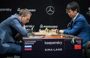 Grischku klarte ikke å slå Wang Hao