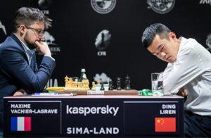 Vachier-Lagrave slo Ding Liren i andre runde