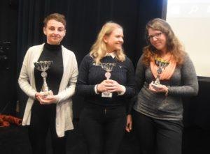 De tre beste i Åpen klasse: Serafin, Bjørkly og Lotz