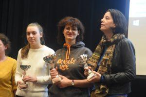 De tre beste i Eliteklassen: Machlik, Dolzhikova og Johnsen