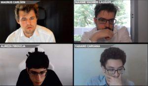 Carlsen. Vachier-Lagrave, Firouzja og Caruana