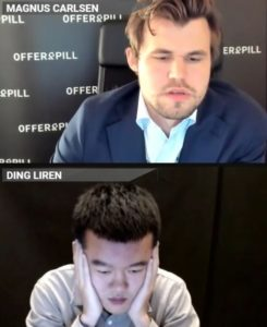 Carlsen slo Ding Liren i semifinalen