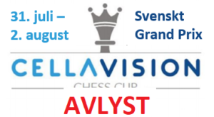 Cellavision Chess Cup er avlyst