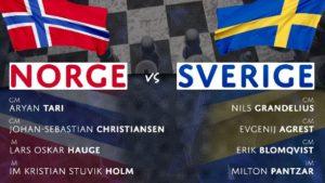 Norge - Sverige på Chess24