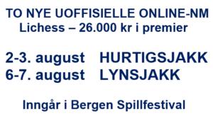 To nye uoffisielle online-NM under Bergen Spillfestival
