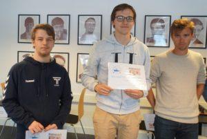 De tre beste i Stavanger Chess Challenge: Vestby-Ellingsen, Haug og Notkevich