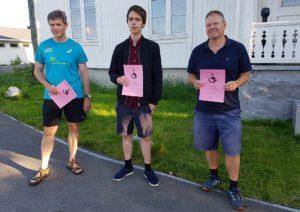 De tre gruppevinnerne i Nordstrand GP Hurtigsjakk