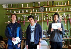 De tre beste i A-grupen: Hobber, Tari og Abdrlauf