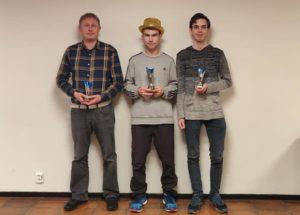 De tre beste i A-gruppen: Røyset, Åsvang og Pettersen