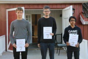 De tre beste i A-gruppen i Kragerø: Ingebretsen, Østmoe og Shezad