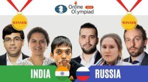 India og Russland fikk begge gullmedaljer