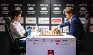 Tari mot Carlsen i tredje runde