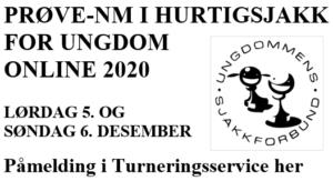 Prøve-NM i hurtigsjakk for ungdom online 2020