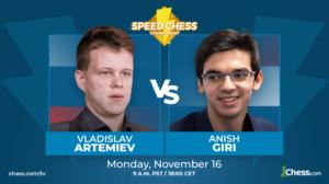 Artemiev slo Giri og møter Carlsen i kvartfinalen