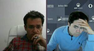 Aronian og Nakamura er to av spillerne i delt ledelse