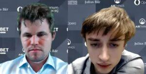 Carlsen slo Dubov i søndagens første runde