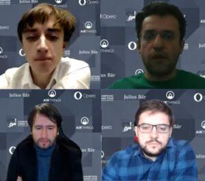 De fire semifinalistene Dubov, Aronian, Radjabov og Vachier-Lagrave
