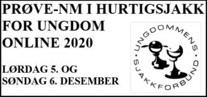 Prøve-NM i Hurtigsjakk for ungdom online