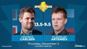 Carlsen slo Artemiev i kvartfinalen