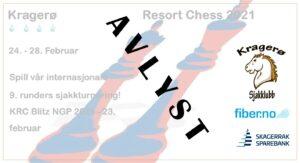 Kragerø Resort Chess 2021 er avlyst