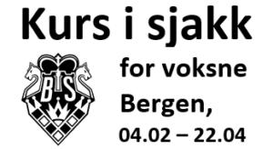 Kurs i sjakk for voksne i Bergen