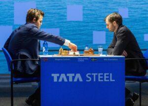 Carlsen slo Grandelius i niende runde