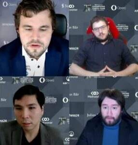 Semifinalistene Carlsen, Vachier-Lagrave, So og Radjabov