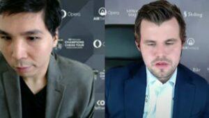 So vant mot Carlsen, men er likevel et halvpoeng bak