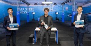 De tre beste i Tata Steel: Giri, van Foreest og Esipenko