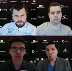 Semifinalistene Carlsen, Nepomniachtchi, Giri og So