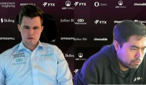 Carlsen og Nakamura spilte 2-2 i første kvartfinalematch