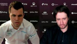 Det ble 2-2 mellom Carlsen og Radjabov