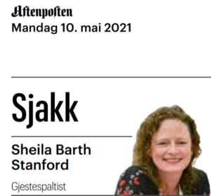 Sheila Barth Berntsen er gjestespaltist i Aftenposten