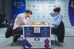 Carlsen vant første parti mot Tari