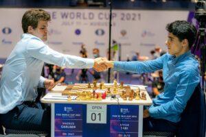 Carlsen vant også det andre partiet mot Tari