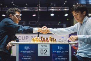 Caruana måtte nøye seg med remis mot Jumabayev