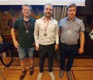 De tre beste i Hansasjakken: Lund, Hølleland og Martinsen