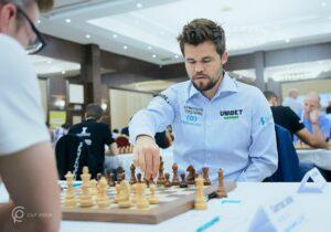 Carlsen vant enkelt i fjerde runde