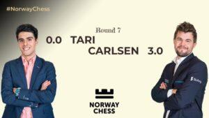 Carlsen slo Tari i syvende runde