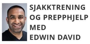 Sjakktrening og prepphjelp med Edwin David